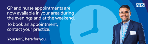 GP Extended Access evening and weekend appointments, find out more